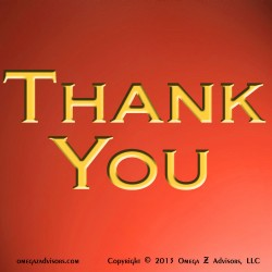 Thank You (Reddish Orange & Gold)