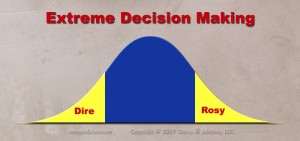 Extreme decision making is when we overreact to bad events and overinvest in good ones.