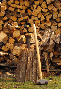 Wood splitting teaches us about the thinking that lives at the crossroads of different views.
