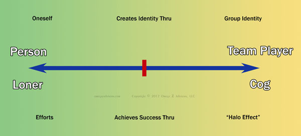 How people want to create their identity and achieve their success play a key role in their reactions to teams in the workplace.