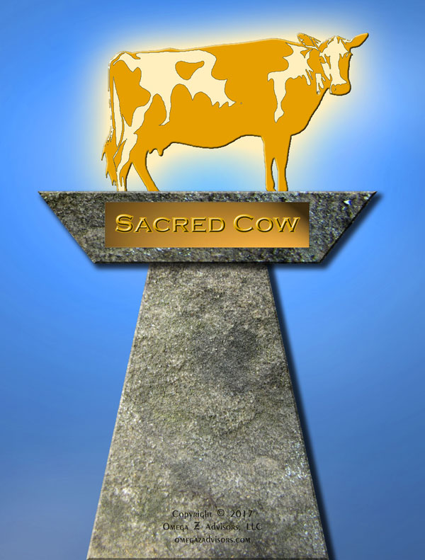 A simple high level act the changes cultures usually means tackling the sacred cows in the organization.