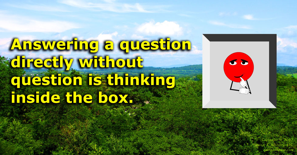 Questioning questions is an easy to begin to challenge assumptions like a pro.