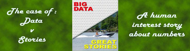What happens in the case of big data versus great stories?